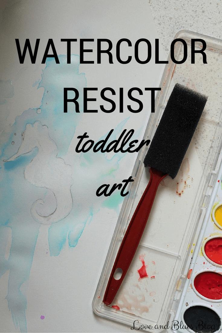 Watercolor Resist Toddler Art