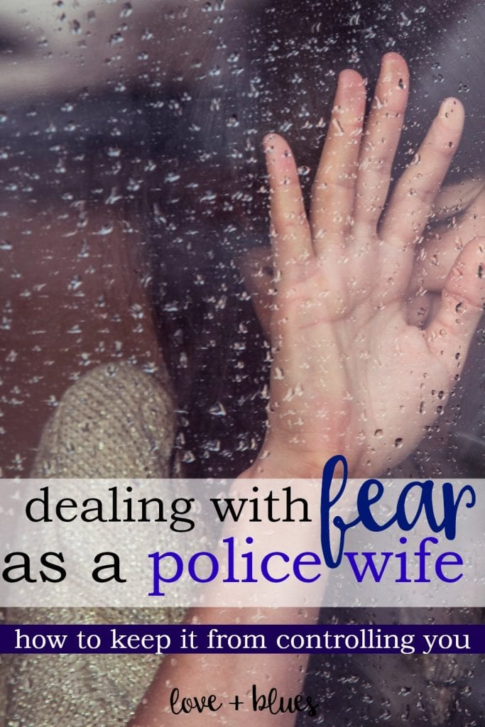 Being a police wife can be so hard and scary. Great perspective:)