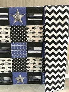 Police Themed Baby Quilt