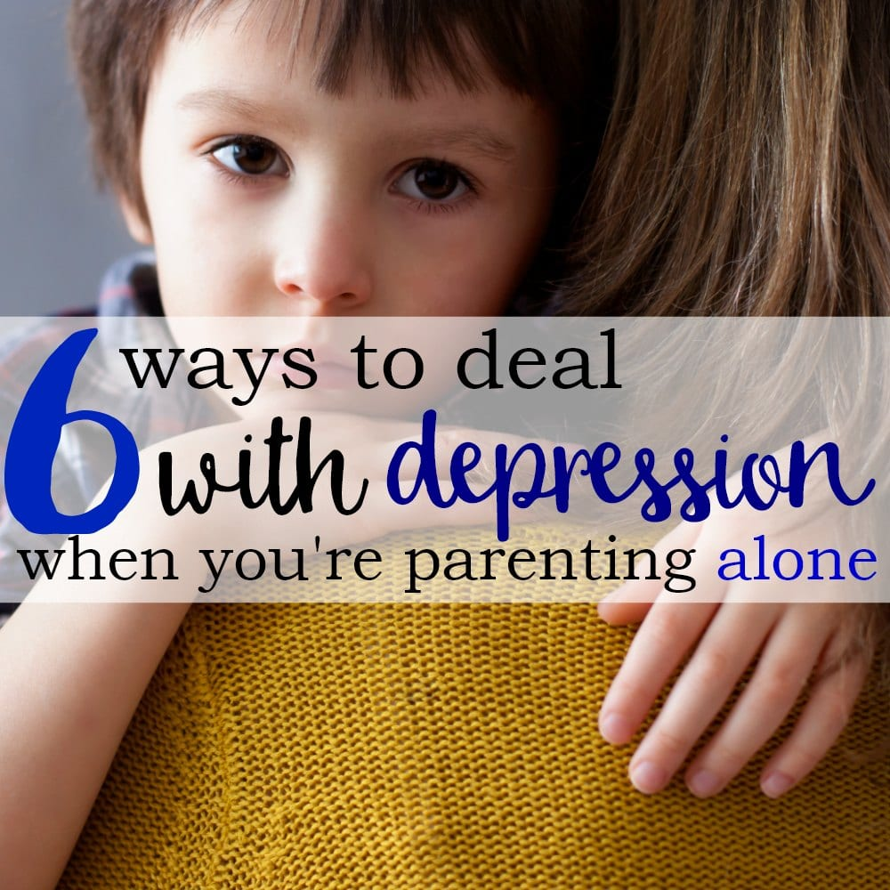 6 Ways To Deal With Depression When You're Parenting Alone