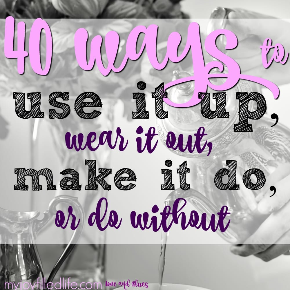 40 Ways to Use It Up, Wear It Out, Make It Do, Or Do Without: Guest Post