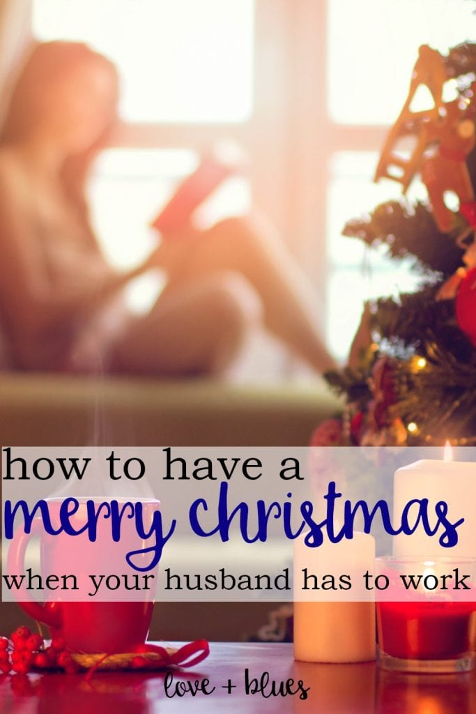 Ugh, this will be my first ever christmas without my husband because he just finished the police academy :( I'm so not looking forward to it, but this helps a lot.