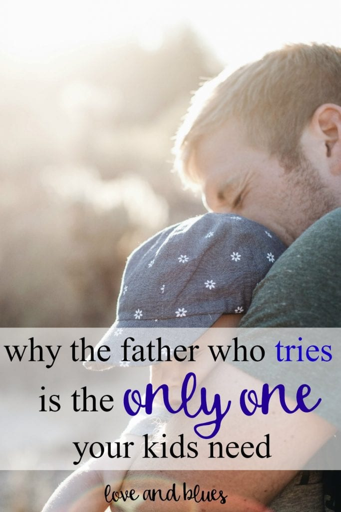 I love this. Society puts a lot of pressure on moms to be perfect... but dads, too (well, when it's not ignoring them or pretending they don't know anything.) Great reminder I need to occasionally cut my husband a little slack ;)
