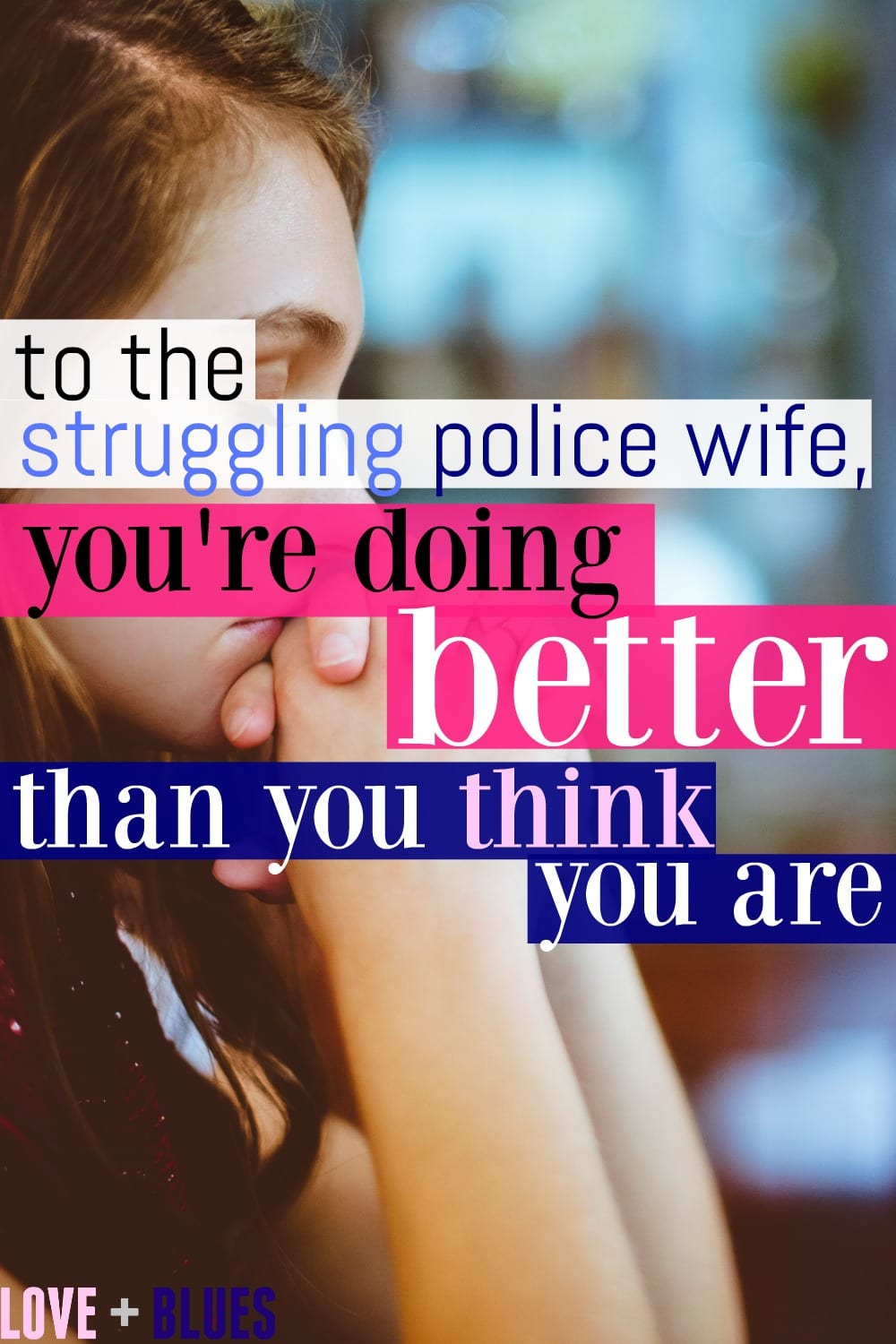Seriously crying. This is exactly what I needed to read right now. Police wife life is hard but I know I'll be stronger for it. #policewife #lawenforcement
