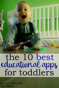 This is a great list of apps for toddlers. I too said I'd never use electronics with my kids - what did I know, lol.
