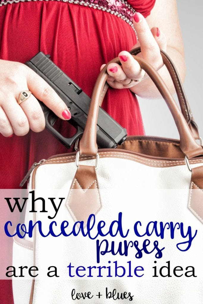 I've NEVER thought about this - I assumed a concealed carry purse would be the best way to go, but I think I'll find something else.