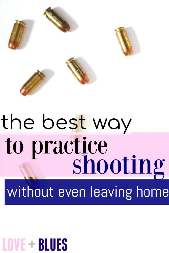 This is awesome! It uses a laser bullet in your gun to let you practice firing at home and actually see how you're doing. Super cool.