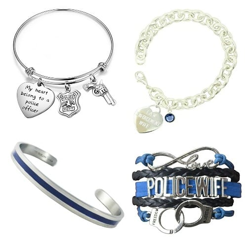 The best police wife jewelry available - these are just the bracelets!