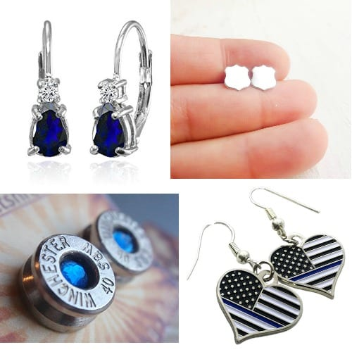 The best police wife jewelry available - these are just the earrings!