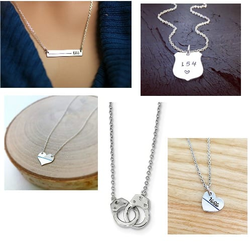 The best police wife jewelry available - these are just the necklaces!