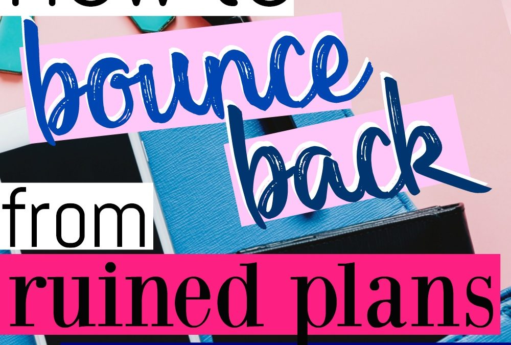 How To Bounce Back From Ruined Plans as a Police Wife