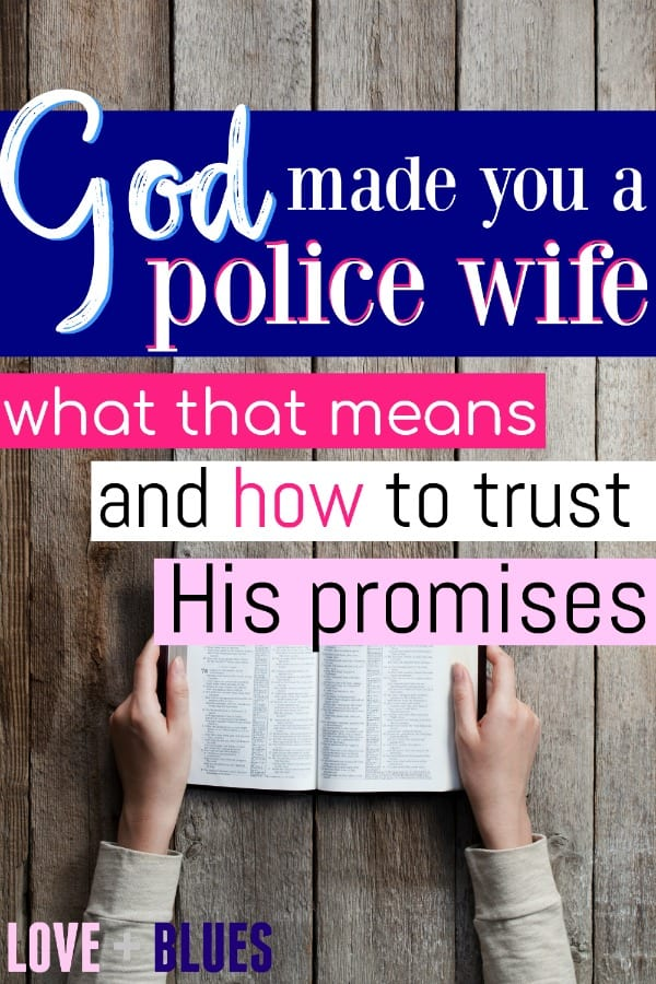 God made strong women police wives - and God made you a police wife, so that says something! I love this post so much. All about how to team up with God and make the most of a hard life.