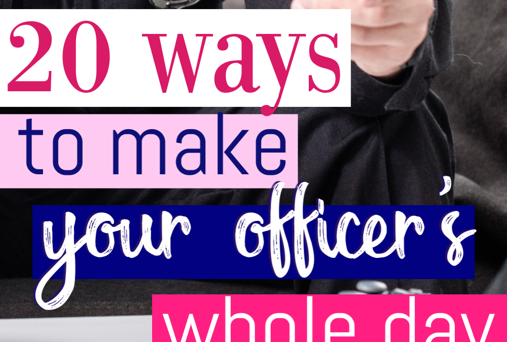 20 Ways To Make Your Officer's Entire Day
