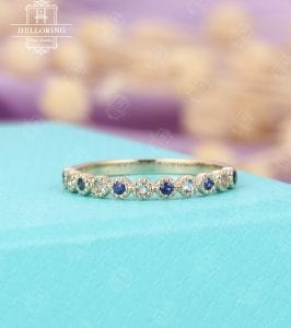 Not exactly a thin blue line ring, but gorgeous blue and white sapphire ring that would totally do the trick!