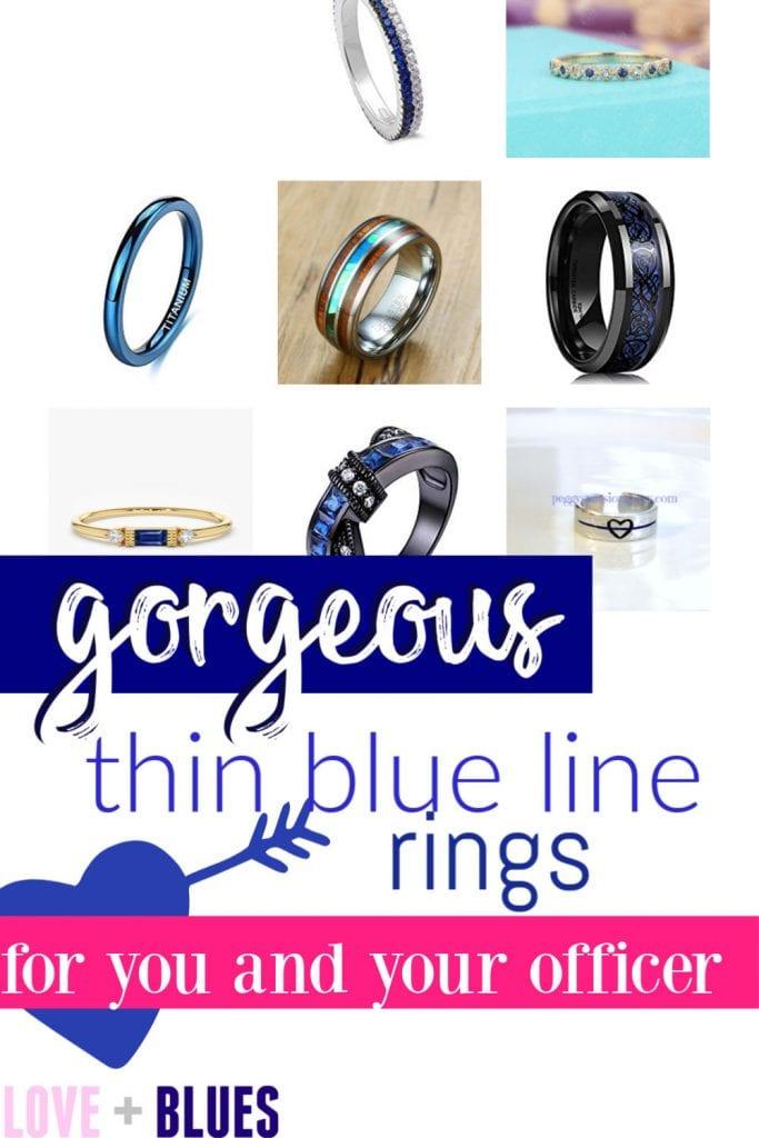 Gorgeous thin blue line ring ideas!